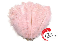 Decorative plume crafts cheap dyed baby pink ostrich feathers for sale