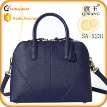 new brand genuine leather joint office lady bag pures color shell hand bag