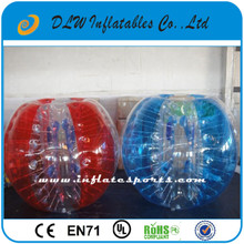 2015 1.5m Clear inflatable human hamster ball bubble football bubble soccer in stock