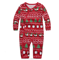 Wholesale Christmas Clothes Sets Children's Clothing Baby Cotton Thread Newborn Winter Thermal Clothingbaby Cute Sweater Fabric