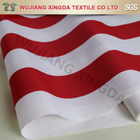 Red white striped solar shade fabric