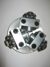 diameter 125mm diamond litchi rotary frankfurt diamond bush hammer plate for stone