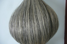Perfect Looks Curly Gray/Grey Remy Human Hair Weaving Virgin Hair Extensions Human Brazilian