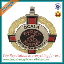 Two tone gold and silver metal custom medal maker