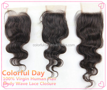 Beautiful Free/Middle/3 Part Brazilian Lace Closure Bleached Knots Brazilian Body Wave Closure,Cheap Lace Front Virgin Human Hai