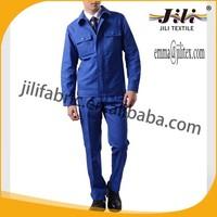 poly cotton twill dark blue uniform fabric for workwear, 21S*21S, 108*58