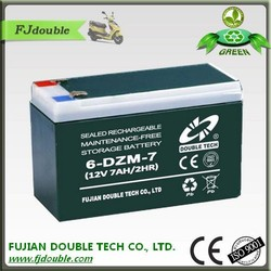 Fast delivery AGM 12v 7ah sealed lead acid battery for electric scooter