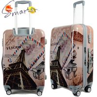 Eiffel Tower Printing Online Trolley Travel Luggage