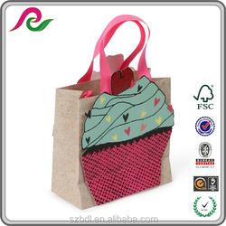 Kraft paper bag 3D design paper bag Cupcakes small gift bag