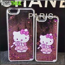 Bling Glitter Star Liquid Flow Sand Cute Popular Kawaii Hello kitty Cat Case for iPhone 5 5S 6 plus Hellokitty Cover