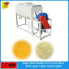 Easy operation horizontal animal feed mill mixer