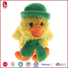 2016 new customized promotion stuffed duck plush toy with hat