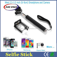 NEW ARRIVAL!!! 2015 hot selling blue tooth wireless monopod selfie stick Extendable and rechargable selfie stick