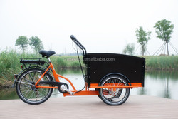 2015 high quality new model adult three wheel electric Cargo Bike/Electric tricycle model 6 speeds UB9031E-6S