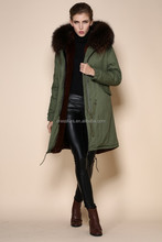 Top quality women coats be warm lined winter hooded brown overcoat
