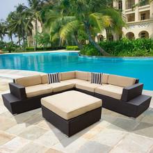 2015 Hot sale garden outdoor sofa natur rattan