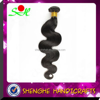 2015 wholesale fashionable 18 inch body wave nature color unprocessed raw peruvian hair
