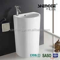 Over flow hole economic chaozhou factory single pcs pedestal wash basin sinks