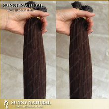 #2 dark brown I tip hair extension wholesale silky straight european hair 100 keratin tip human hair extension