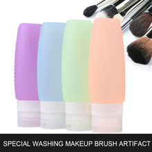 Convenient soft good quality bpa free silicone cleaning foundation brush
