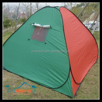 2015 Wholesale Tourist Equipment Hunting Outdoor Tent with Wind-break Ropes and Pegs