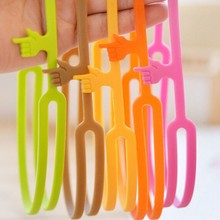 3D Silicone Pointing Finger Bookmark Silicone Bookmark