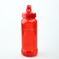 600ml single wall water bottle with ice container and straw