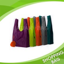 Eco Friendly Manufacture Custom Fashion Design Reusable Cheap Logo Printing Colorful Nylon Foldable Shopping Bag