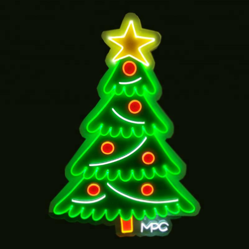 Высокое качество мигающий Рождеством знак неонового света идеально подходит для любого бизнеса или домашнего декора окна