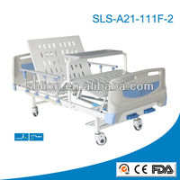 Shlion Brand 2 crank manual patient hospital bed with 2 function
