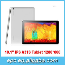 Best Allwinner A31S Quad core 10 inch Tablet PC Android 4.4 Two Camera 1GB/8GB 1280*800