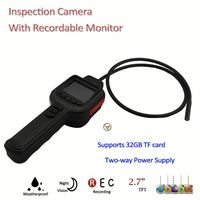 """with 2.7"""" TFT Monitor Tube Snake Inspection cmos infrared cameras"""