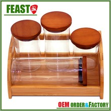 2015 New style vacuum glass container Best selling food container glass High transparency cylindrical food container glass