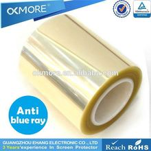 Hight quality products clear 0.125mm anti blue light screen shield film roll