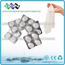 Magic Compressed Towels/coin tissue in 4pc blister pack