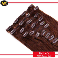 MLER Hair Very Popular Malaysian Remy Clip In Hair Extension 220 Grams