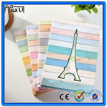 High quality eco friendly A4 hardcover paris pattern school spiral notebook