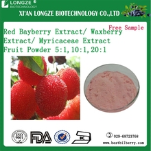 Natural Ratio Extract 5:110:1 20:1 Red Bayberry Fruit Extract Powder /Myricaceae Powder for food flavor addictive
