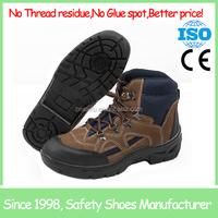 Steel toe cap buffalo leather men leather shoes SF6820