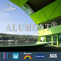 Design of building facades, aluminum composite panel