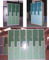 China 2015 modern blue clothes changing L shape steel locker