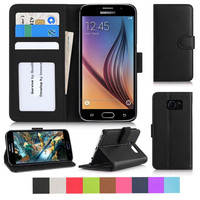 2015 Hot Selling Protective Flip Leather Mobile Phone Case For Samsung S6