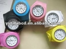 Easy-reading Time Silicone Slap Watch Bands Fashion 2012