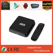 2015 newest Kodi 14.1/14.2 Android TV box Amlogic S802 M8 2.0GHz 2GB RAM 8GB amlogic android smart tv box