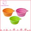 Collapsible Pet Feeding Bowl Dog Cat Travel Dish Silicone Bowl