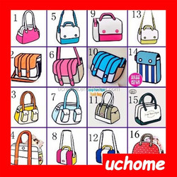 UCHOME factory sell 54 style hot 3D carton backpack bag, comic 3D bag