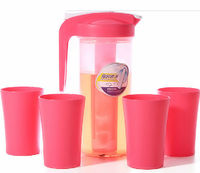 2 L carafe plastic with 4pcs tumblers