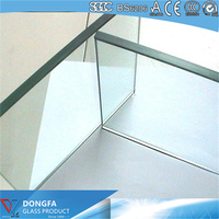 12mm fixed tempered glass with USA certification