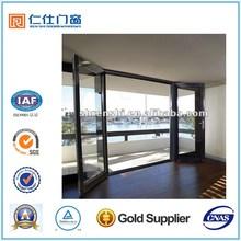 Renshi brand Quality Aluminum bi fold Patio doors