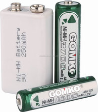 AAA NIMH battery, rechargeable battery,1.2v Battery,